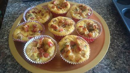 Muffin di uova e peperoni