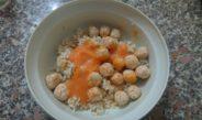 Riso integrale bio polpettine di tacchino e crema di carote