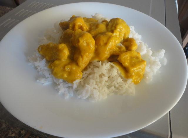Pollo al curry nel microonde